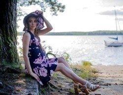 9ef47c146937e6 808 Sukienka bez rękawków do karmienia MIRACLE- magnolia