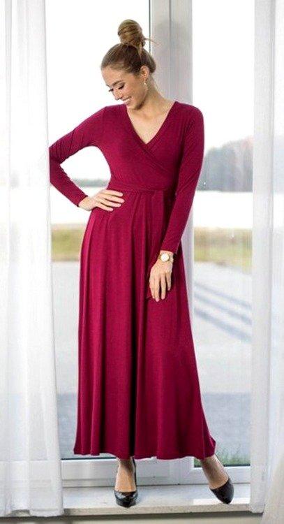 2fd6cbc3a0 ... 109 Wizytowa Sukienka z długim rękawem MIRACLE- czarna Kliknij