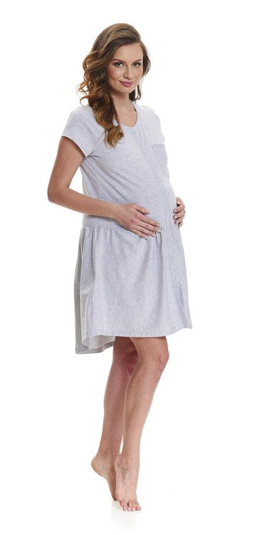 9445 Koszula Nocna ciążowa i do karmienia Doctor Nap grey  z2y4Q