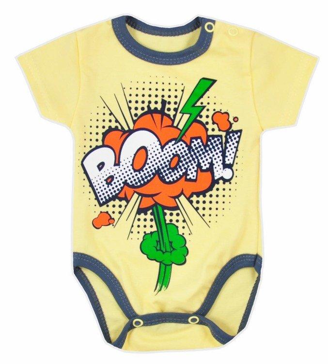 469336e731fca9 Body niemowlęce krótki rękaw BOOM Koala żółte Kliknij, aby powiększyć ...