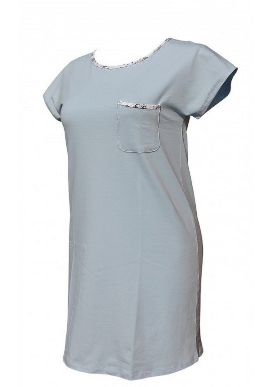 Koszula nocna 433 Maribell Forex niebieski | Bielizna  kQNTv