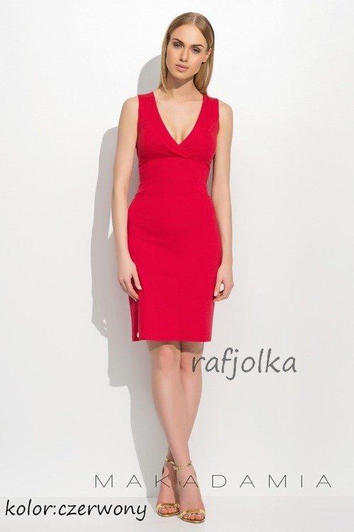6d8cdf9cf8 M308 Sukienka Makadamia - Czerwony czerwony