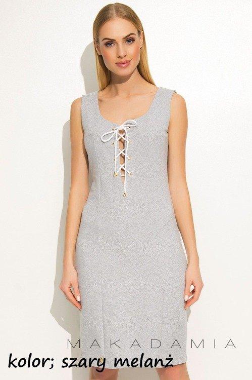 8a95582ecd1f65 M362 Sukienka Makadamia - szara   Odzież \ Odzież damska \ Sukienki ...