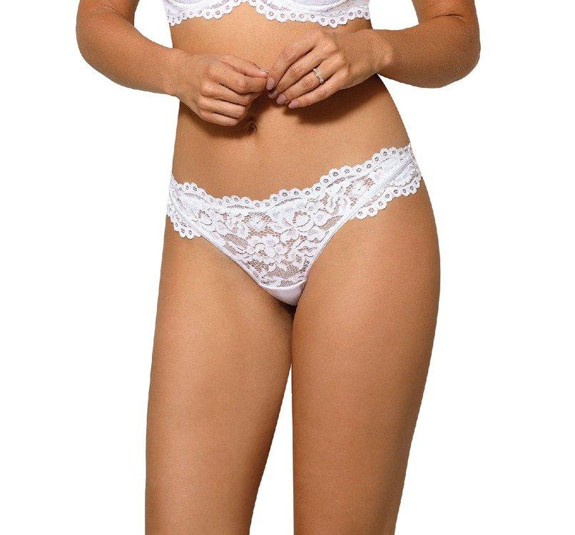 78fc014285f0a5 Newia Stringi Damskie Róża biały biały \ Stringi   Bielizna damska ...