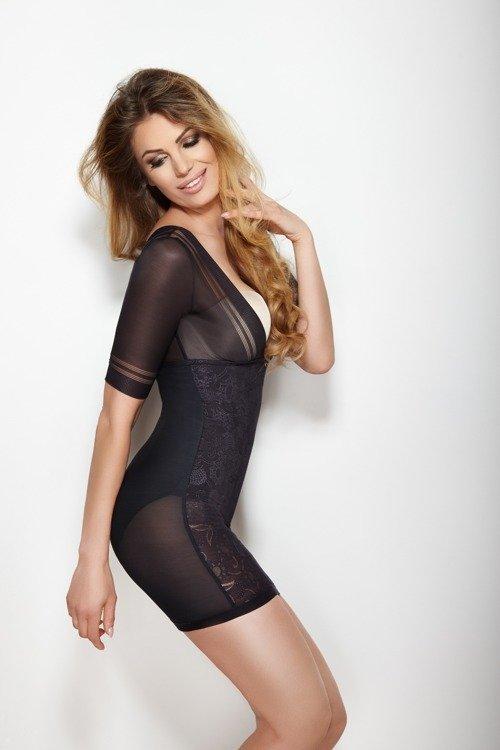 7baed11e5398b8 ... Wyszczuplająca Halka Glossy Dress- czarna Kliknij, aby powiększyć ...